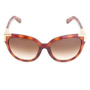 Chloé Light Havana Cat-Eye Sunglasses
